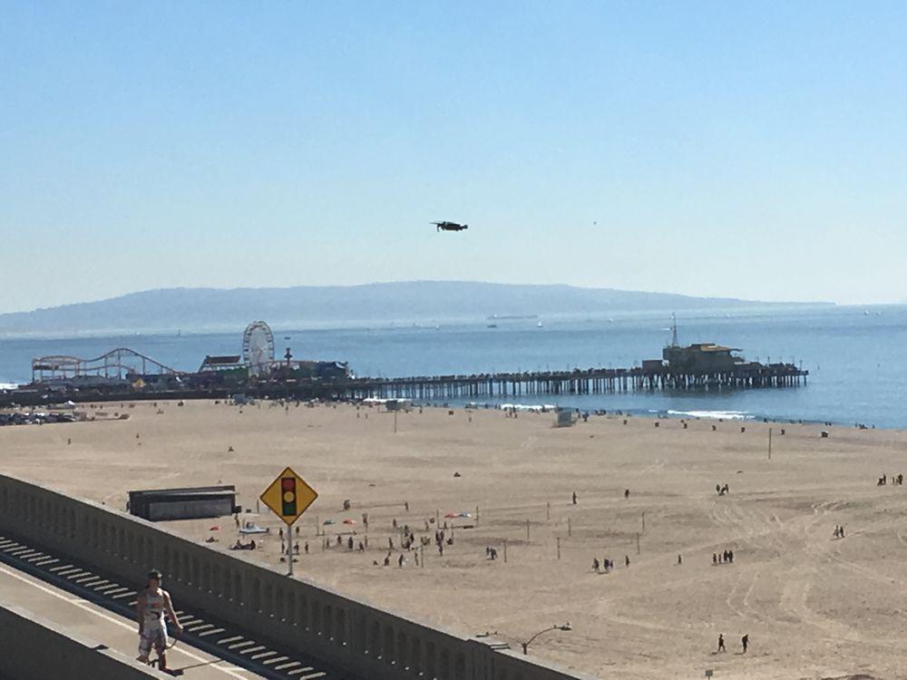 UFO Over Santa Monica Pier Sunday--Unidentified Flying Object of Alien Origin?