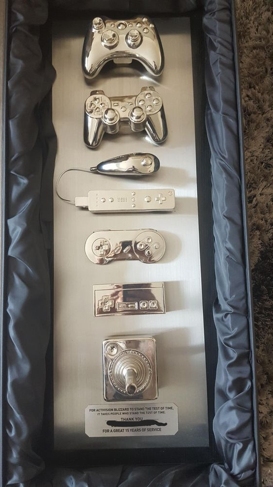 Engineer Receives Gold Plated Controller After 15 Years At
